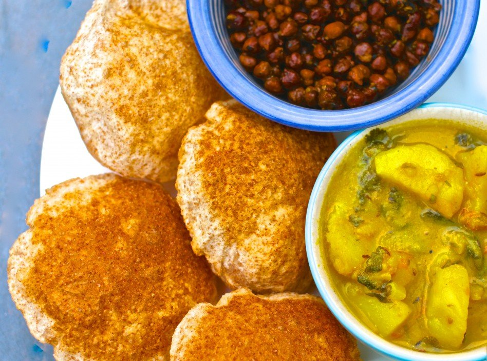 Puri, Dahi Aloo&Kala Chana2